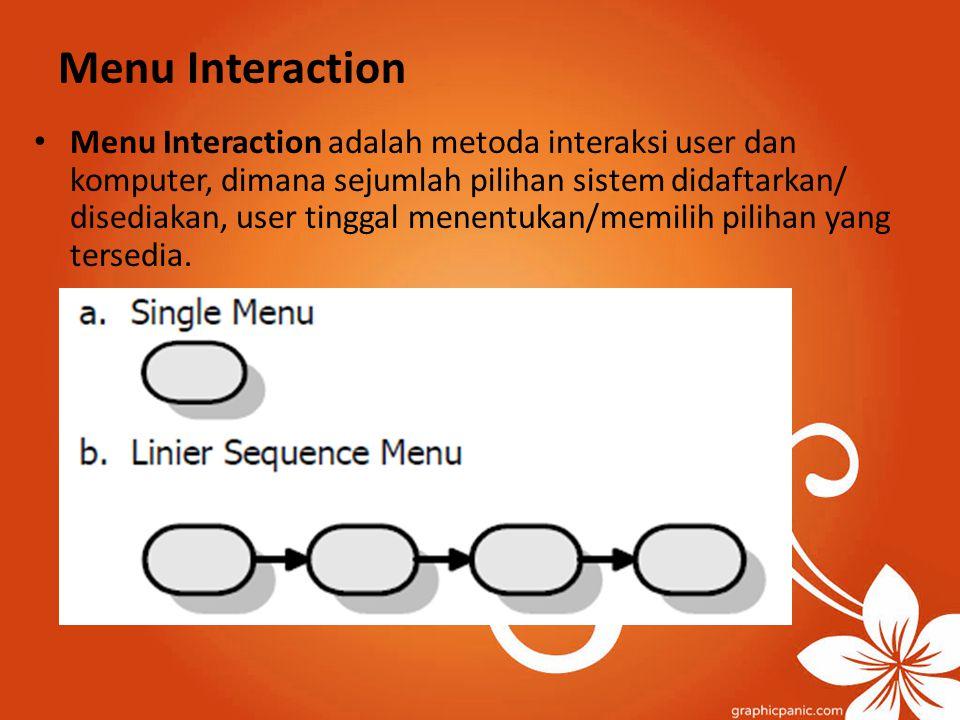 Menu Interaction