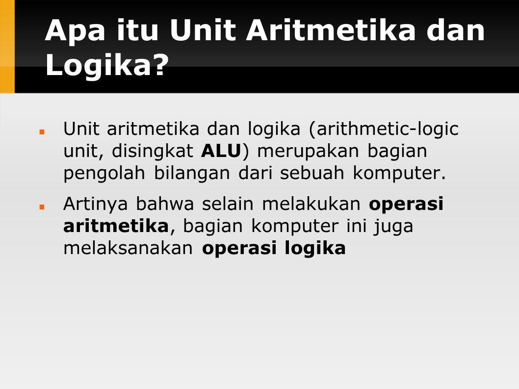 Apa itu Unit Aritmetika dan Logika
