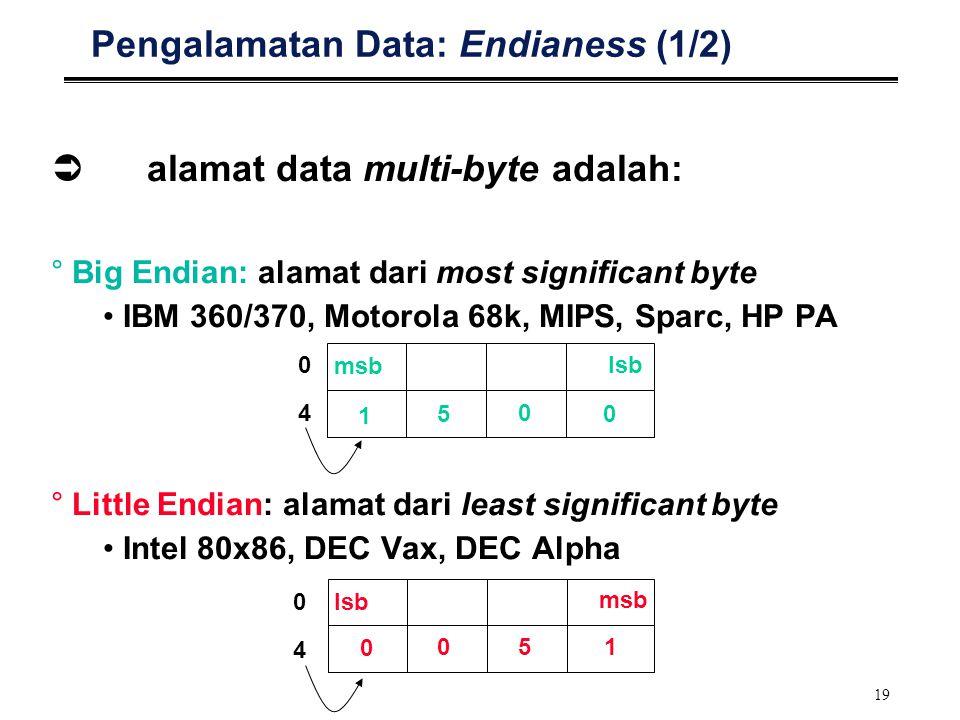 Pengalamatan Data: Endianess (1/2)
