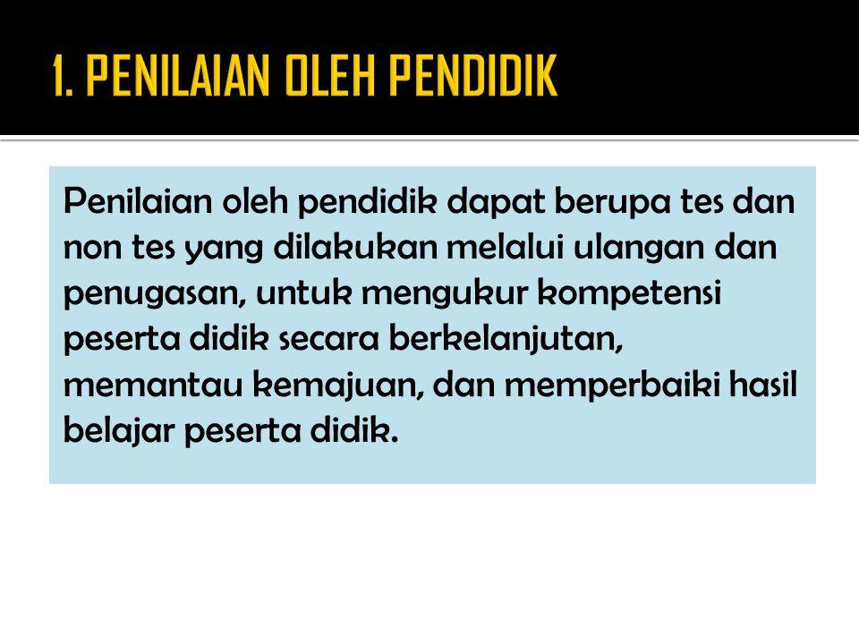 1. PENILAIAN OLEH PENDIDIK