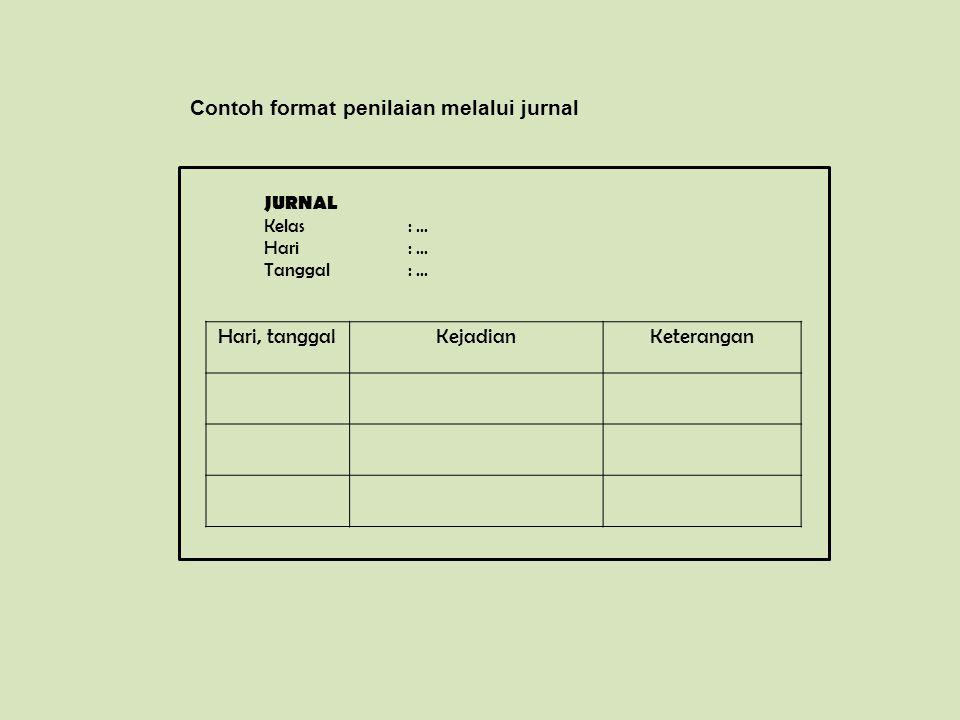 Contoh format penilaian melalui jurnal