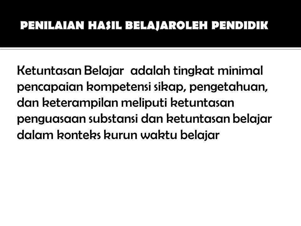 PENILAIAN HASIL BELAJAROLEH PENDIDIK