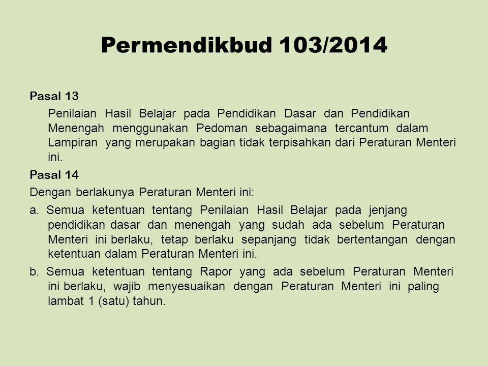 Permendikbud 103/2014