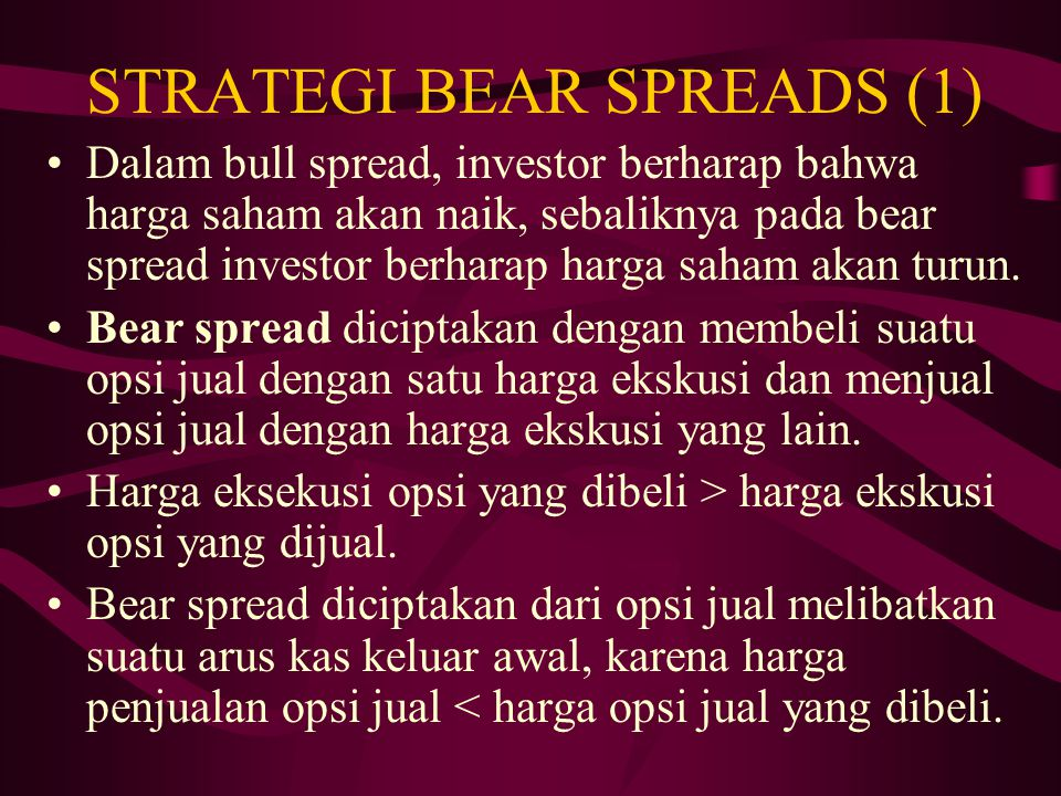 STRATEGI BEAR SPREADS (1)