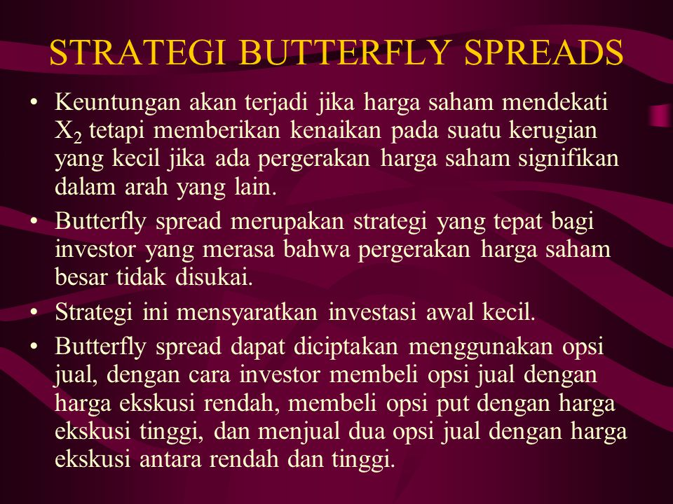 STRATEGI BUTTERFLY SPREADS