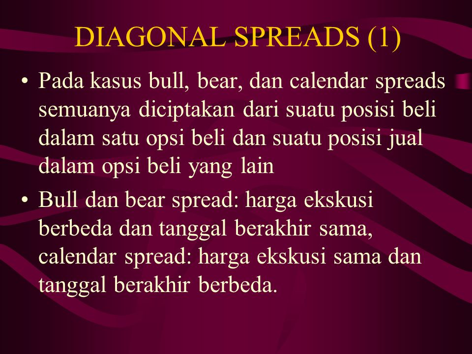 DIAGONAL SPREADS (1)