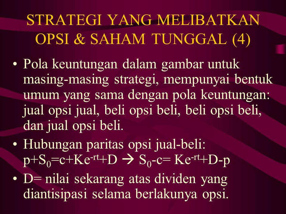 STRATEGI YANG MELIBATKAN OPSI & SAHAM TUNGGAL (4)