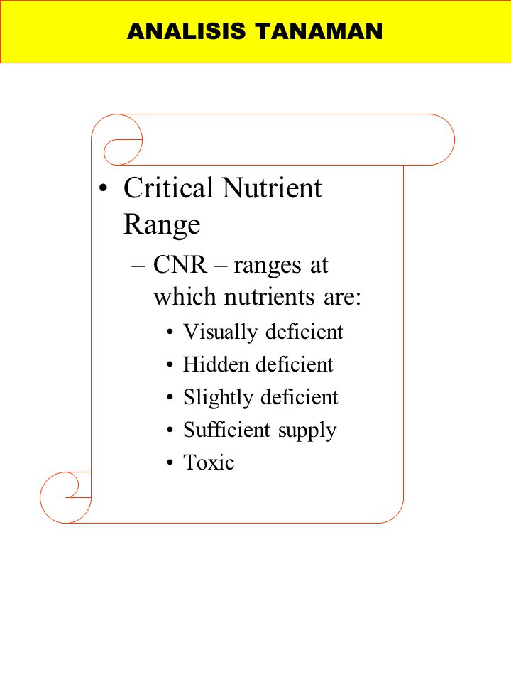 Critical Nutrient Range