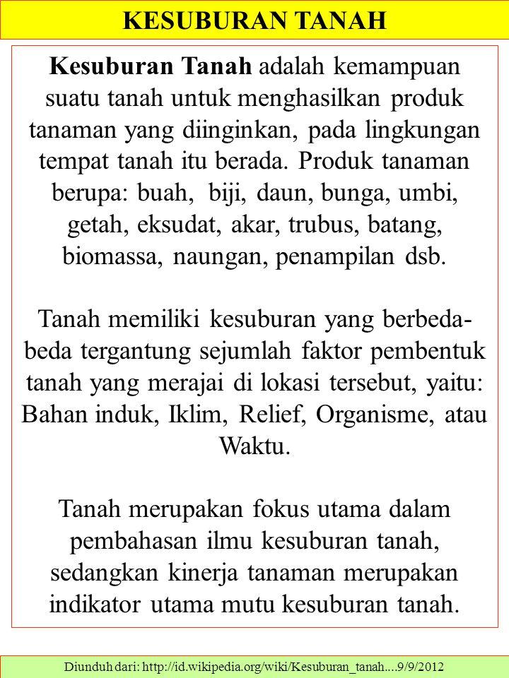 Diunduh dari: http://id.wikipedia.org/wiki/Kesuburan_tanah....9/9/2012