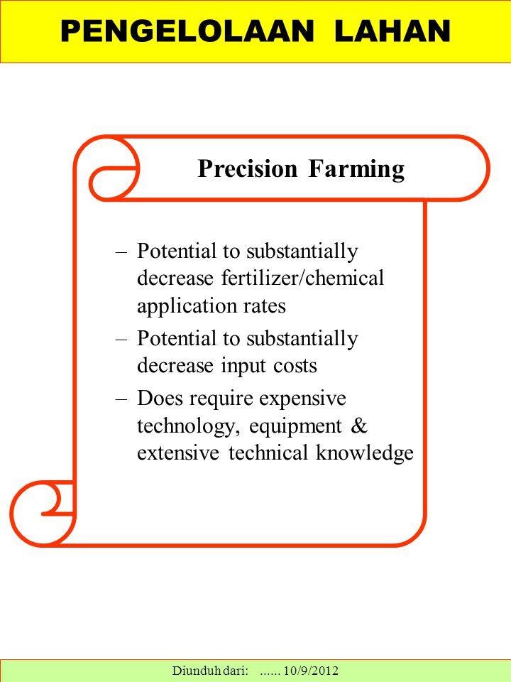 PENGELOLAAN LAHAN Precision Farming