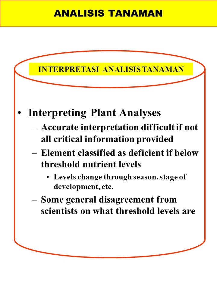 INTERPRETASI ANALISIS TANAMAN