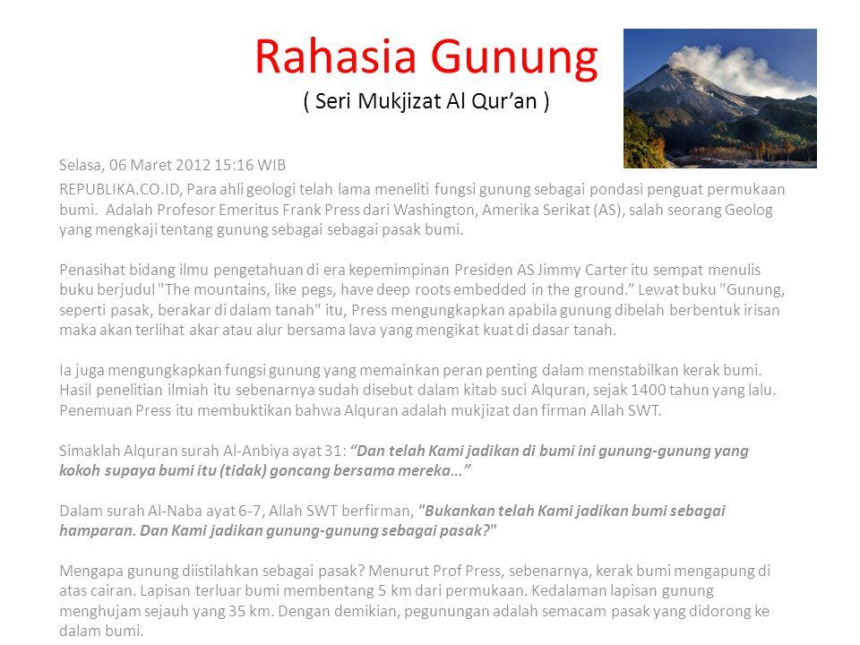 Rahasia Gunung ( Seri Mukjizat Al Qur'an )
