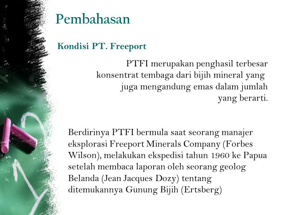 Pembahasan Kondisi PT. Freeport