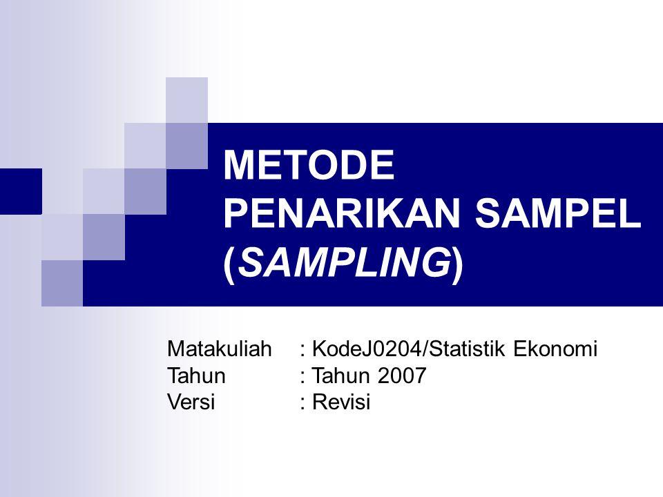 METODE PENARIKAN SAMPEL (SAMPLING)