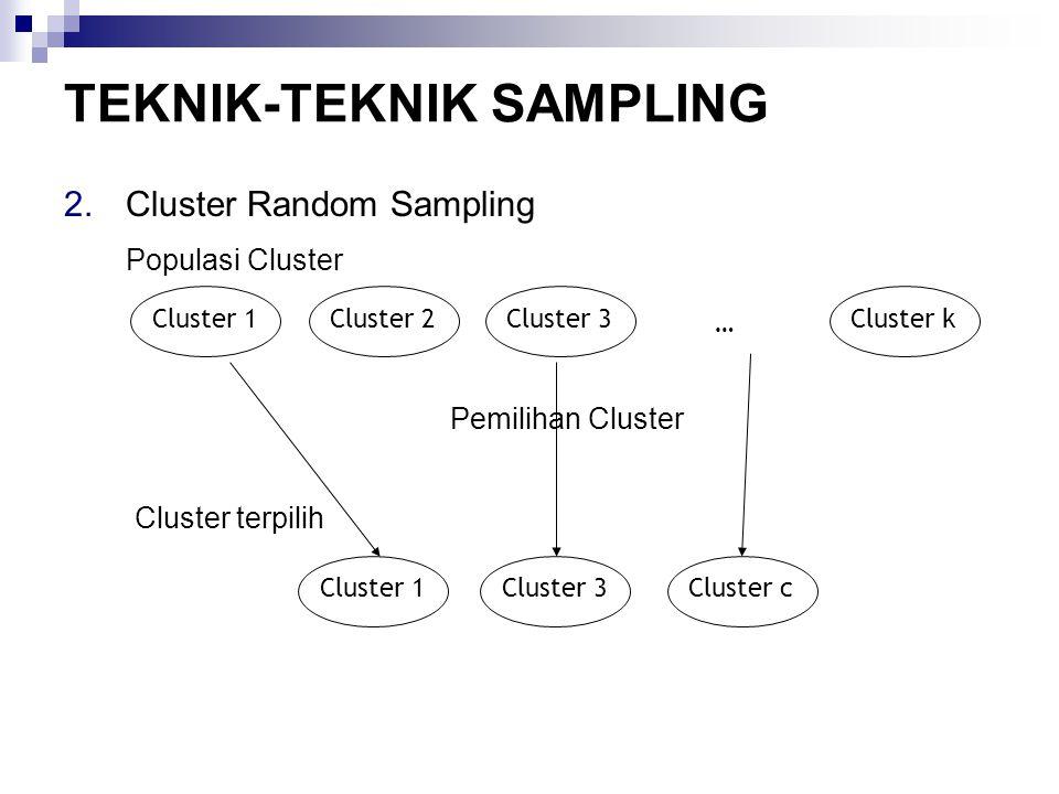 TEKNIK-TEKNIK SAMPLING