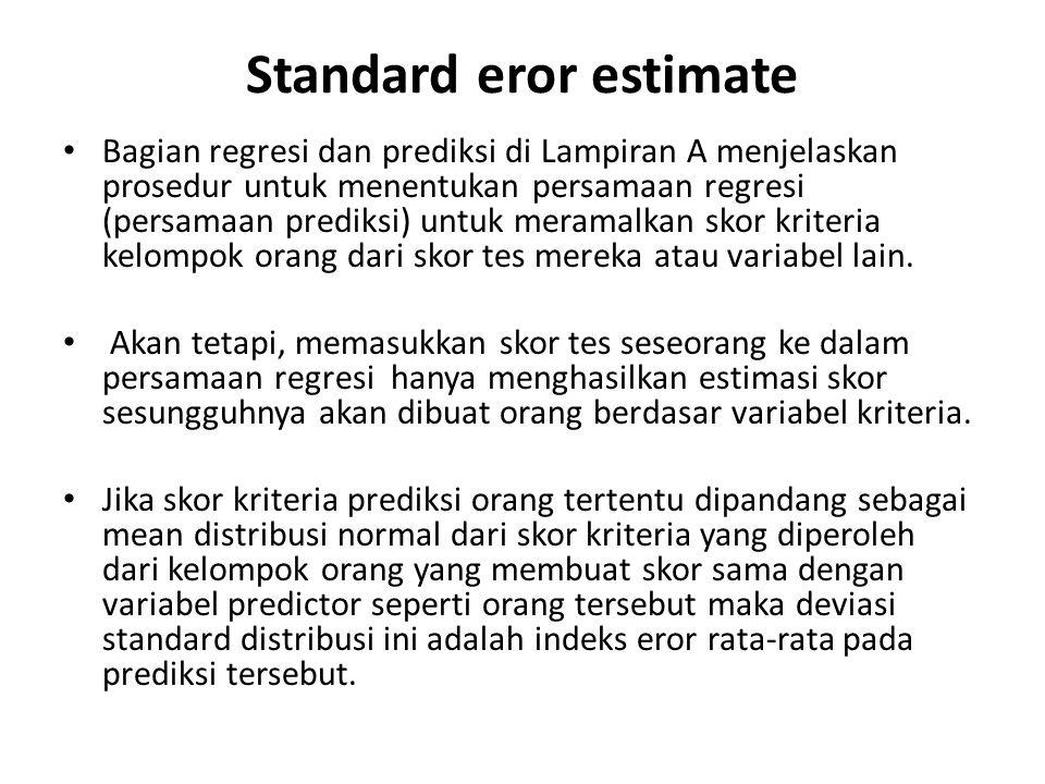 Standard eror estimate