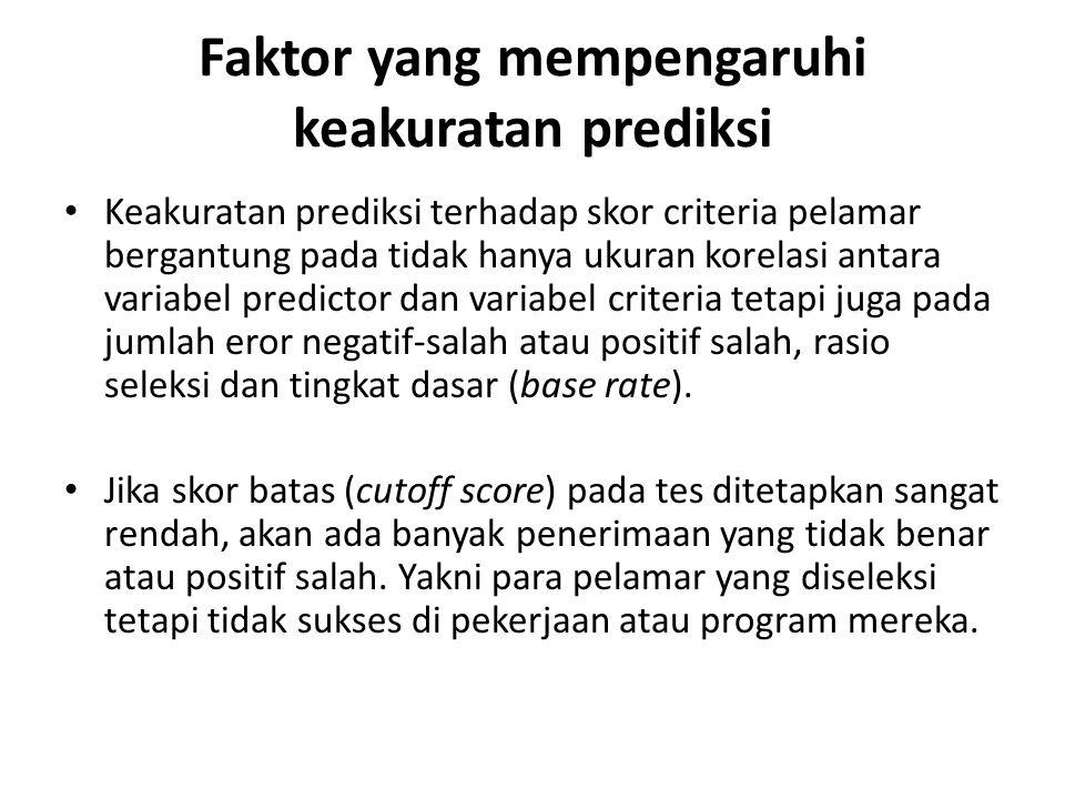 Faktor yang mempengaruhi keakuratan prediksi