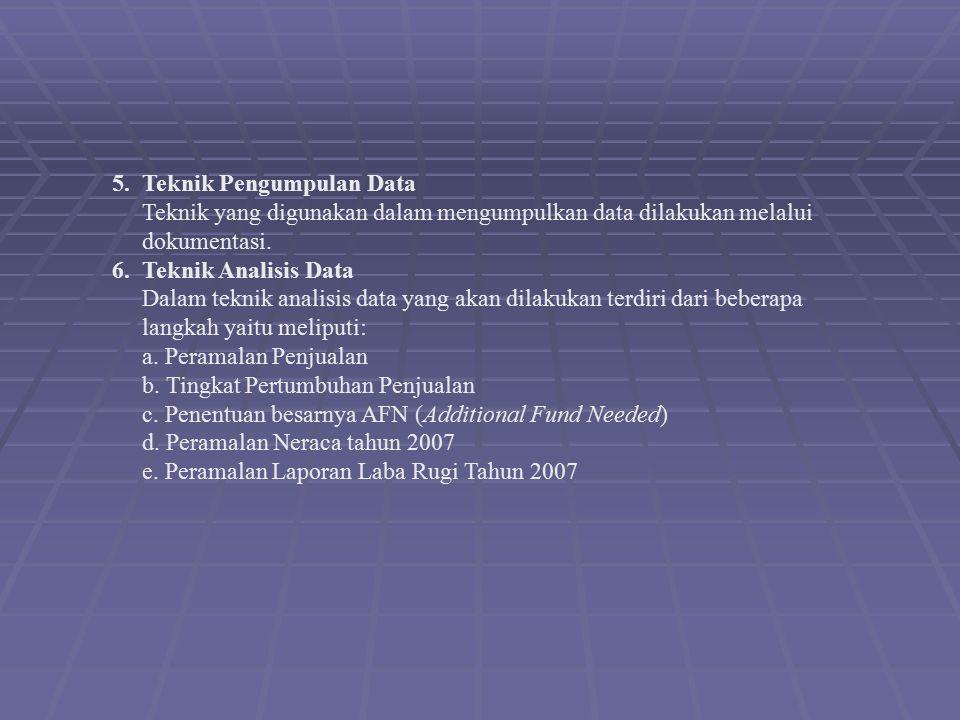 5. Teknik Pengumpulan Data