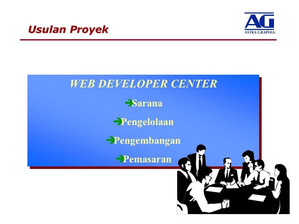 WEB DEVELOPER CENTER Pengelolaan Pengembangan Pemasaran Usulan Proyek