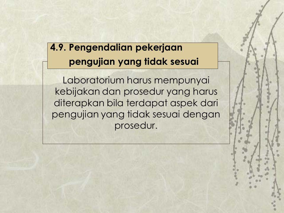 4.9. Pengendalian pekerjaan
