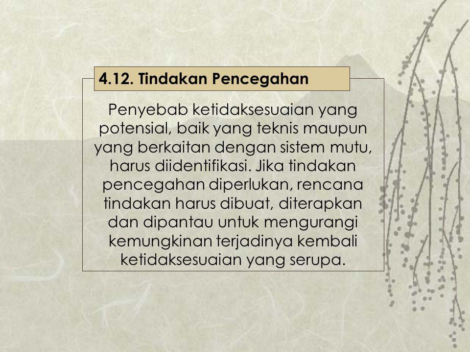 4.12. Tindakan Pencegahan