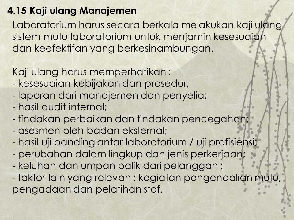 4.15 Kaji ulang Manajemen