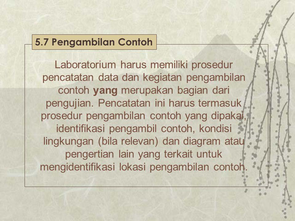 5.7 Pengambilan Contoh