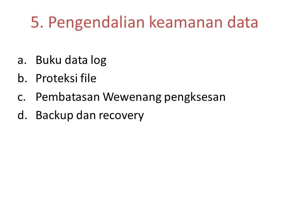 5. Pengendalian keamanan data