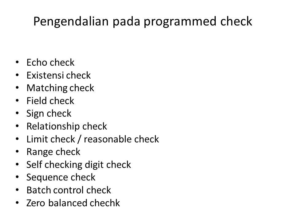 Pengendalian pada programmed check