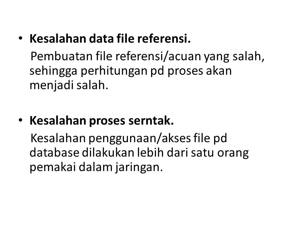 Kesalahan data file referensi.