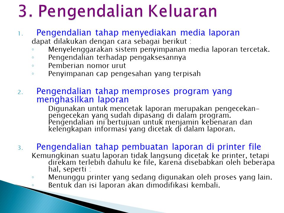 3. Pengendalian Keluaran