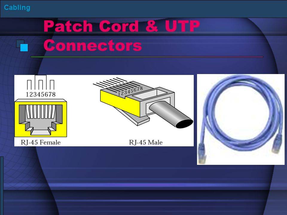 Patch Cord & UTP Connectors