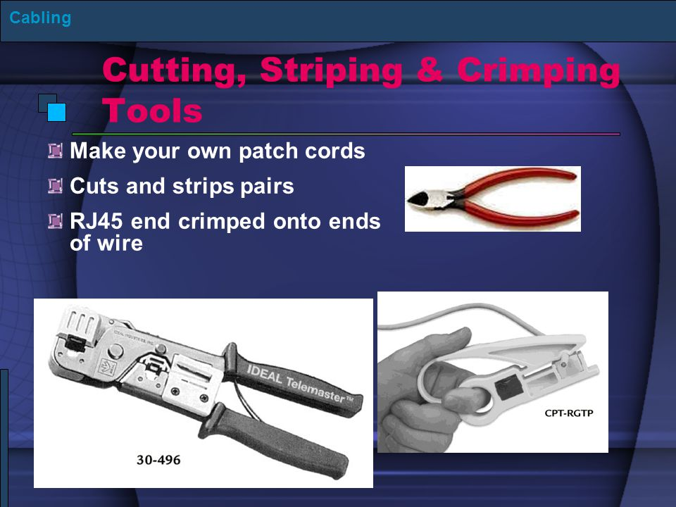 Cutting, Striping & Crimping Tools