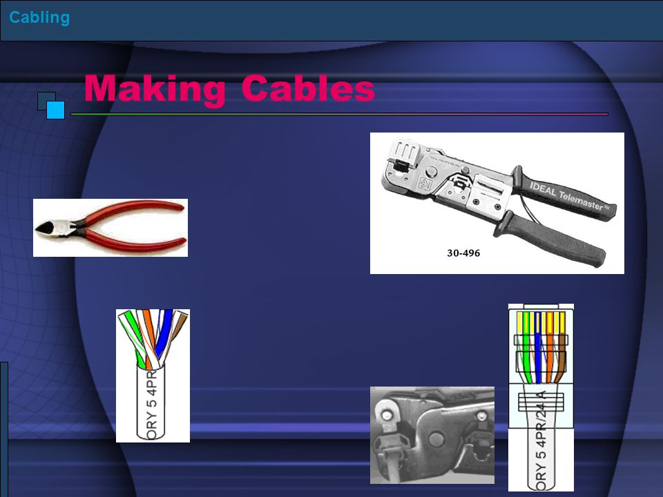 Cabling Making Cables