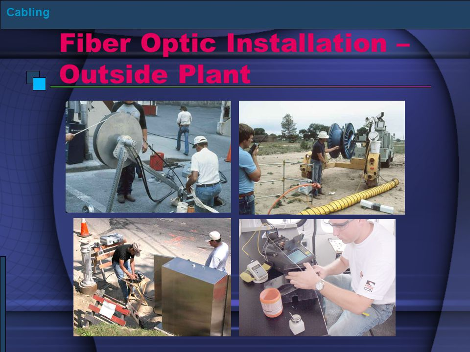 Fiber Optic Installation – Outside Plant
