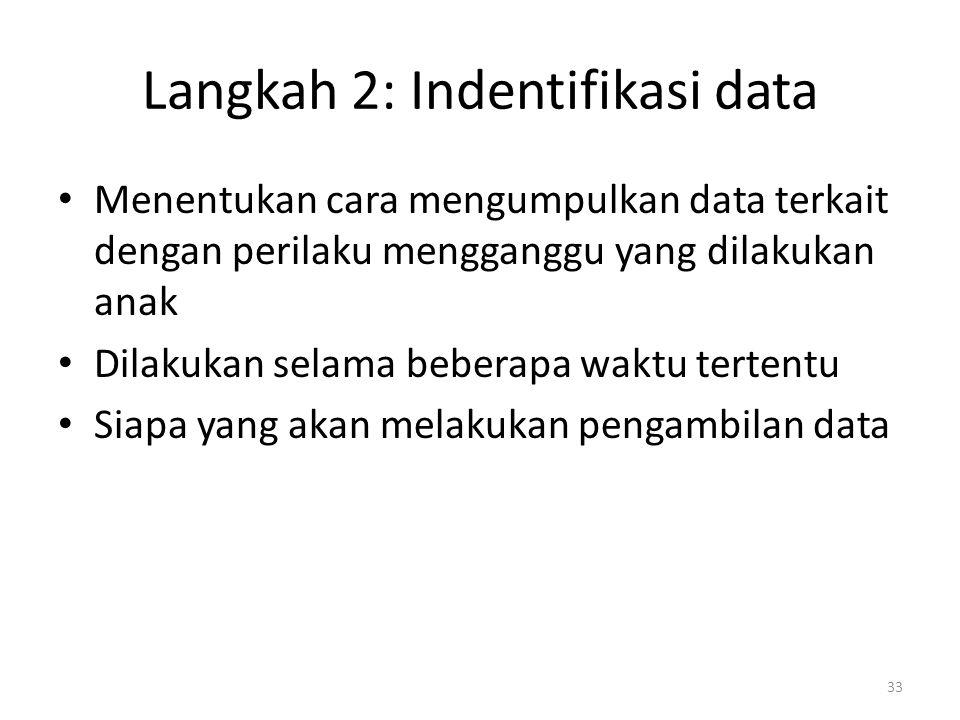 Langkah 2: Indentifikasi data