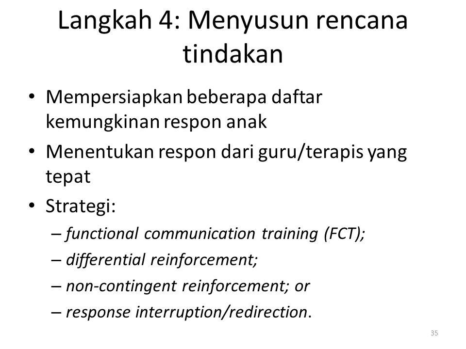 Langkah 4: Menyusun rencana tindakan