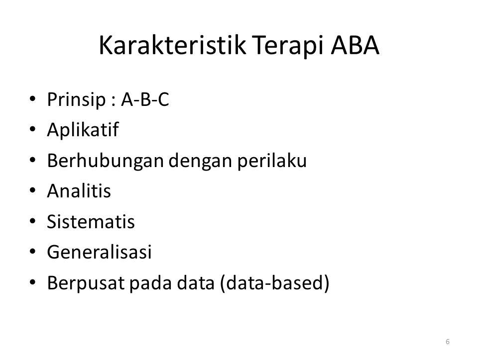 Karakteristik Terapi ABA