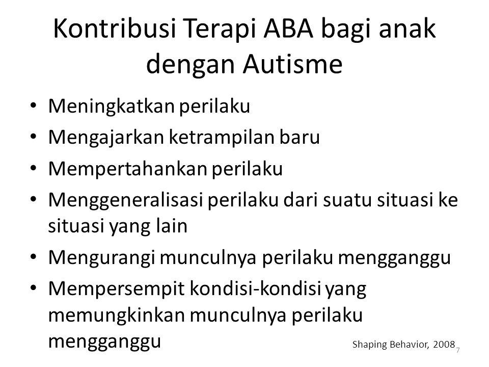 Kontribusi Terapi ABA bagi anak dengan Autisme
