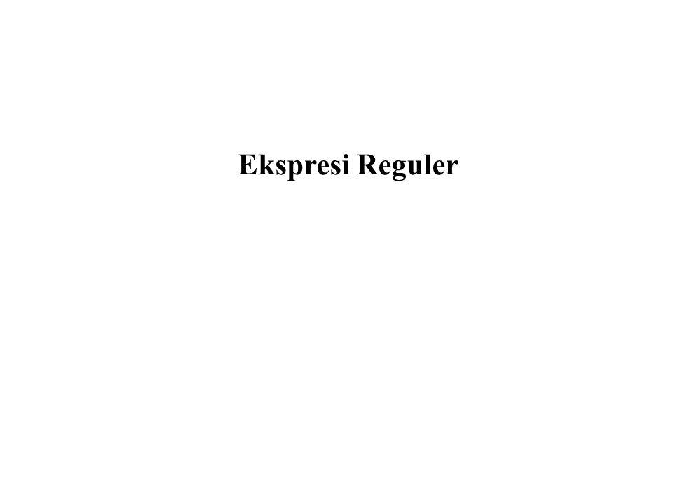 Ekspresi Reguler