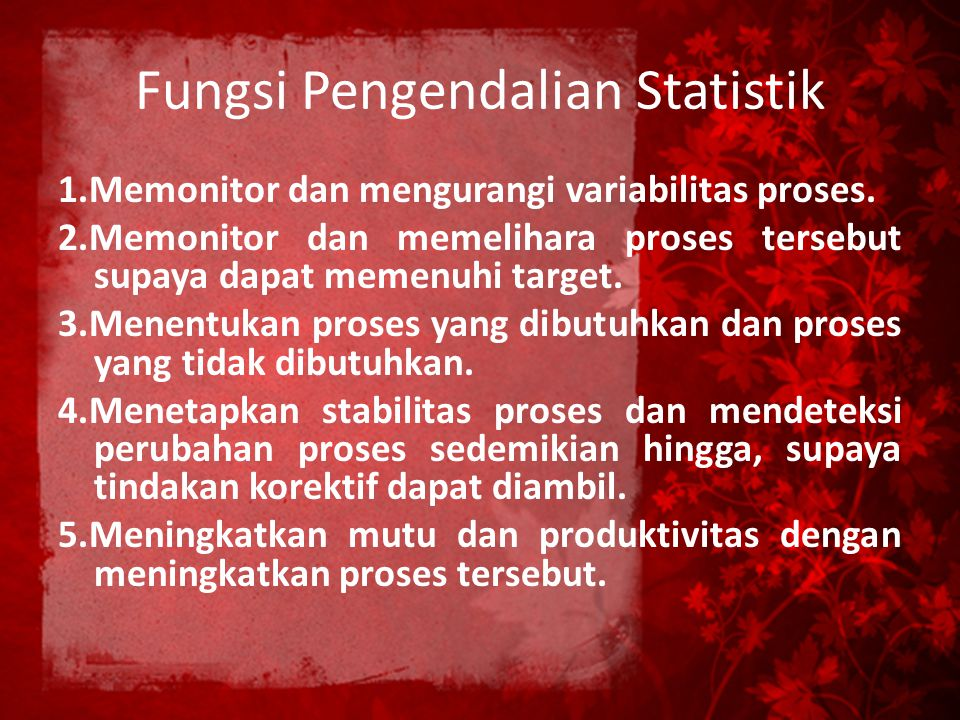 Fungsi Pengendalian Statistik