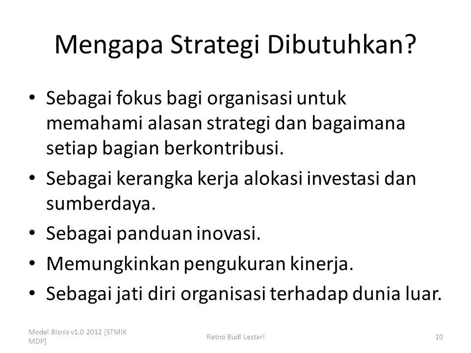 Mengapa Strategi Dibutuhkan