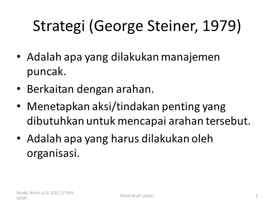 Strategi (George Steiner, 1979)