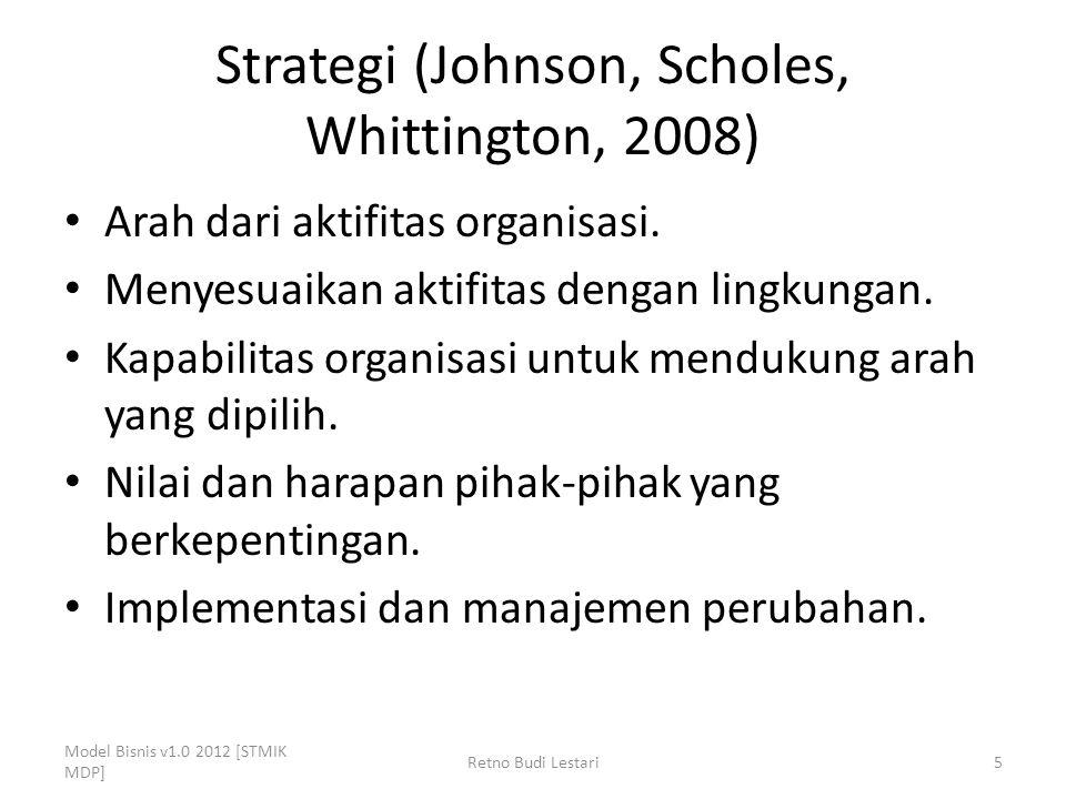 Strategi (Johnson, Scholes, Whittington, 2008)