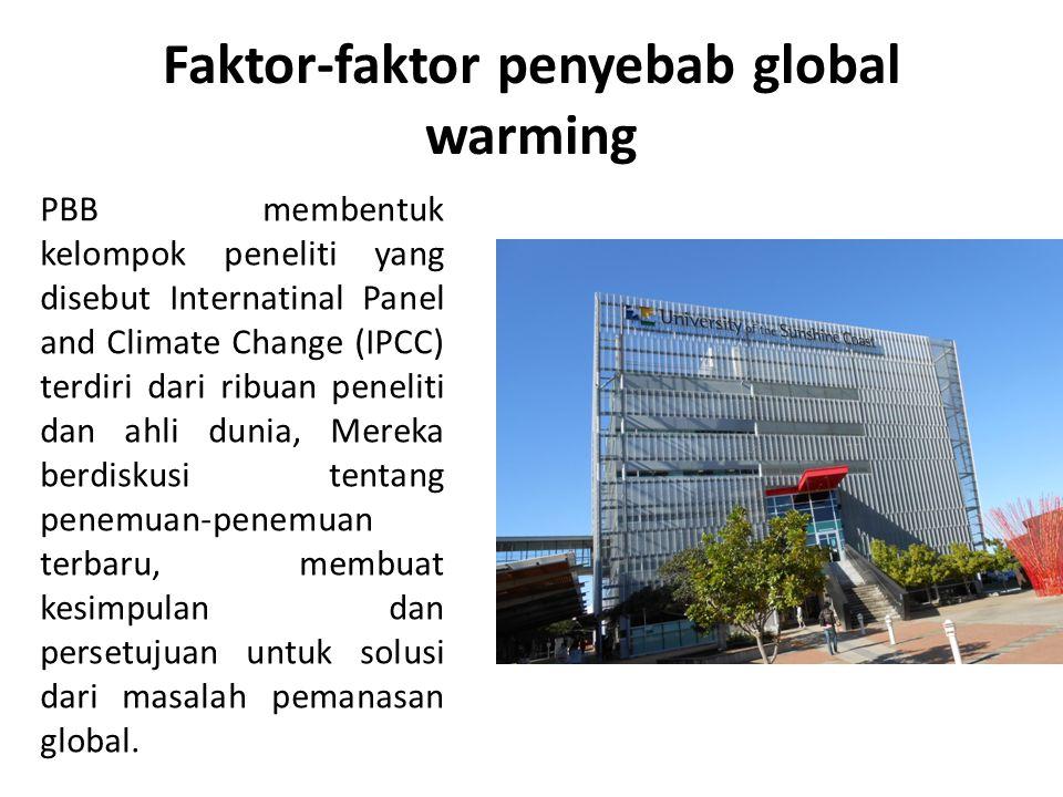 Faktor-faktor penyebab global warming