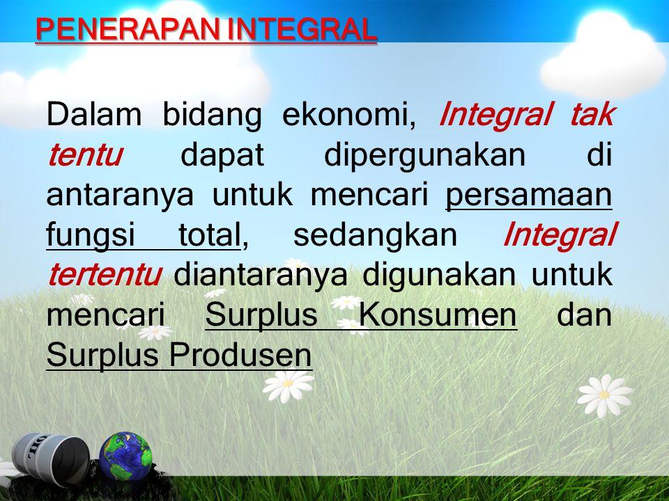 PENERAPAN INTEGRAL