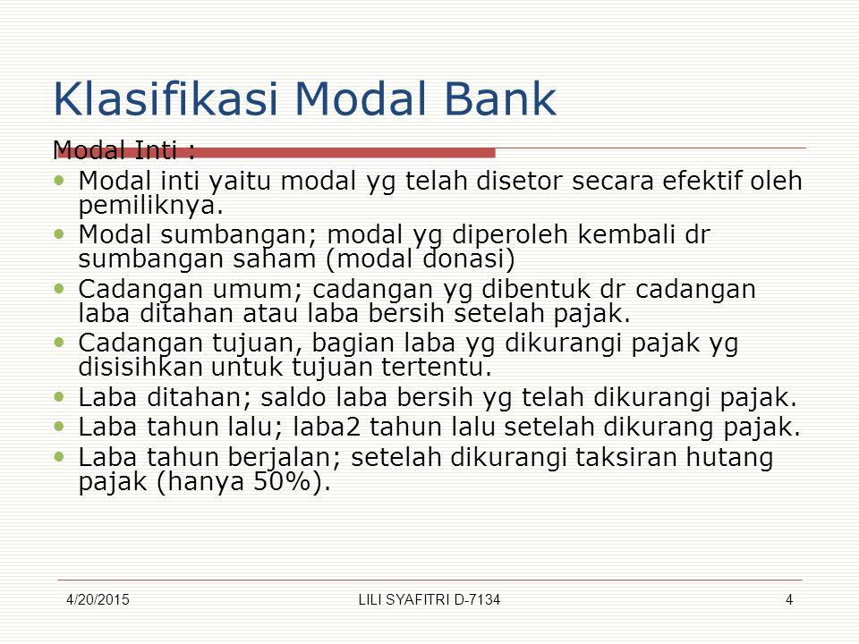 Klasifikasi Modal Bank