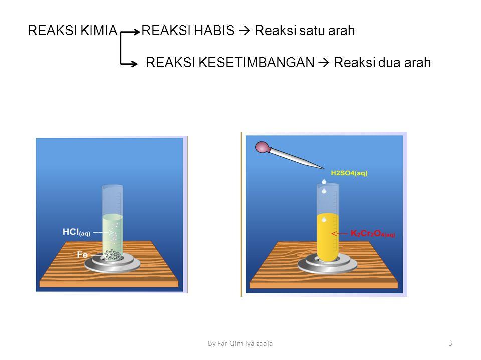 REAKSI KIMIA REAKSI HABIS  Reaksi satu arah