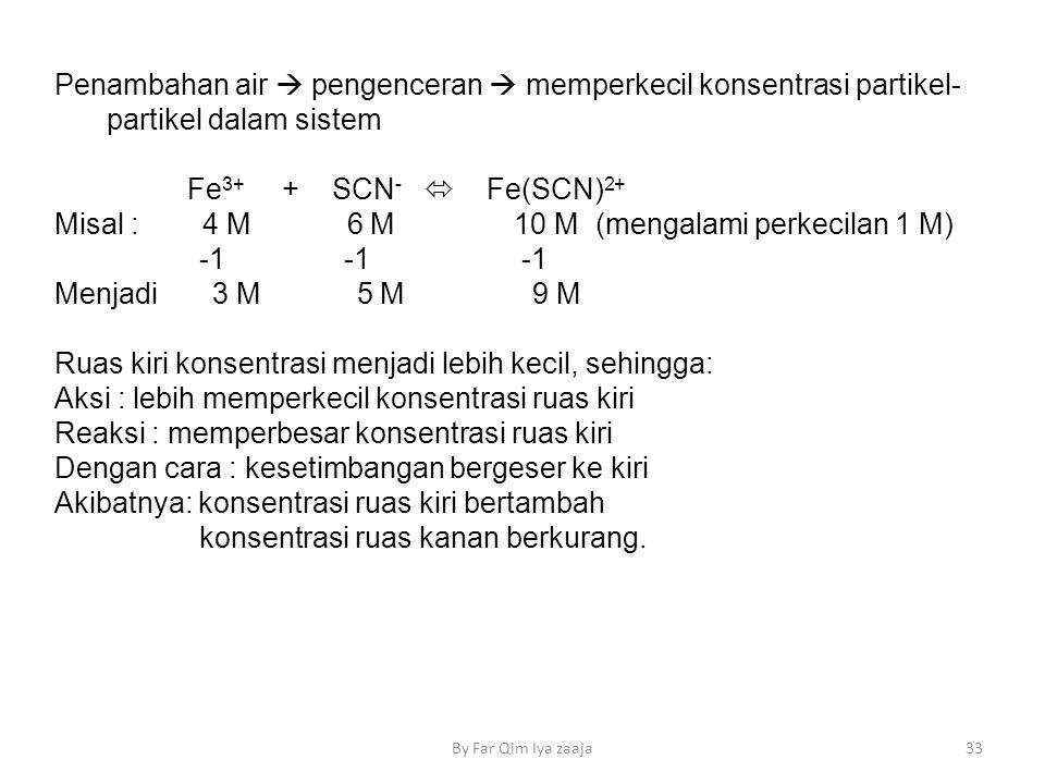Misal : 4 M 6 M 10 M (mengalami perkecilan 1 M) -1 -1 -1