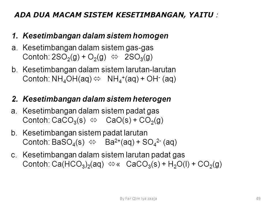 Kesetimbangan dalam sistem homogen a.